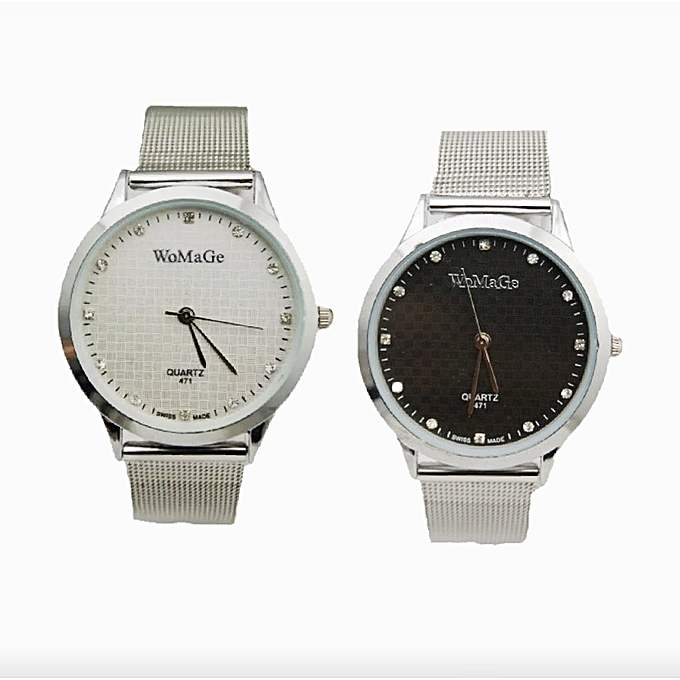 a55d9b6448 Buy Generic Unique Ladies Fashion Watch- Silver   Best Price Online ...