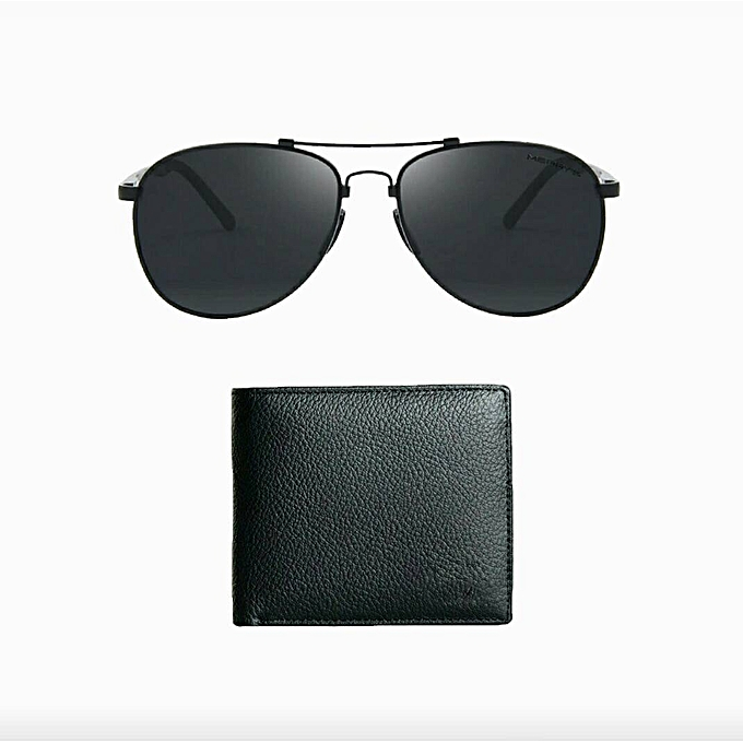 ccb67c928f Buy Generic Elegant Men s Fashion Leather Wallet And Sunglasses ...