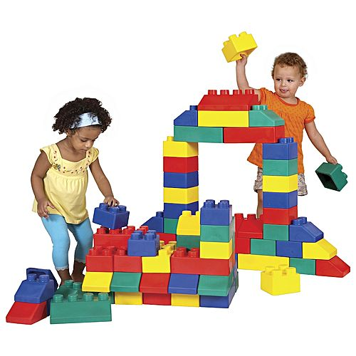 Building Blocks Castle Construction Beginners Kids Toddlers Set Large Plastic Toy