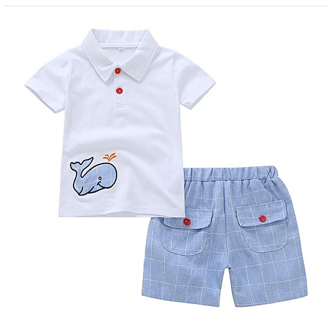 6086fbdd7 Buy Generic 2 pc Baby Boy Shorts and Polo Tshirt Set   Best Price ...
