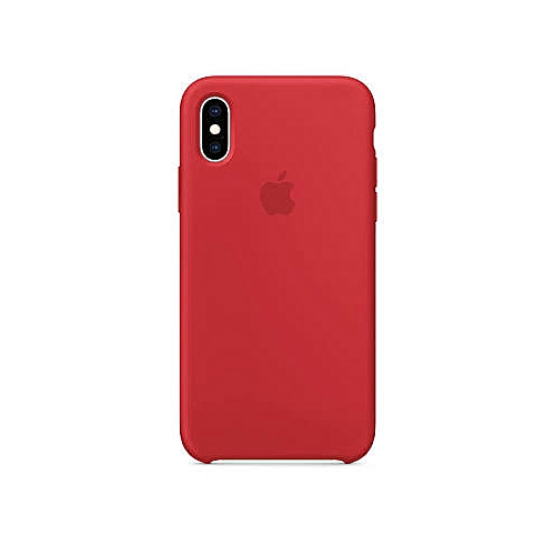 new style 13b19 3b397 iPhone X Silicone Case - Red