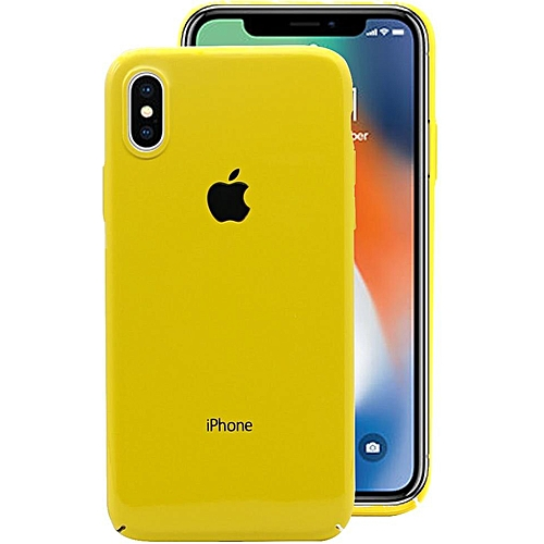 low priced 6025a 44be9 HiCool Ultra-Slim Protective Case Cover for iPhone XS Max - Yellow