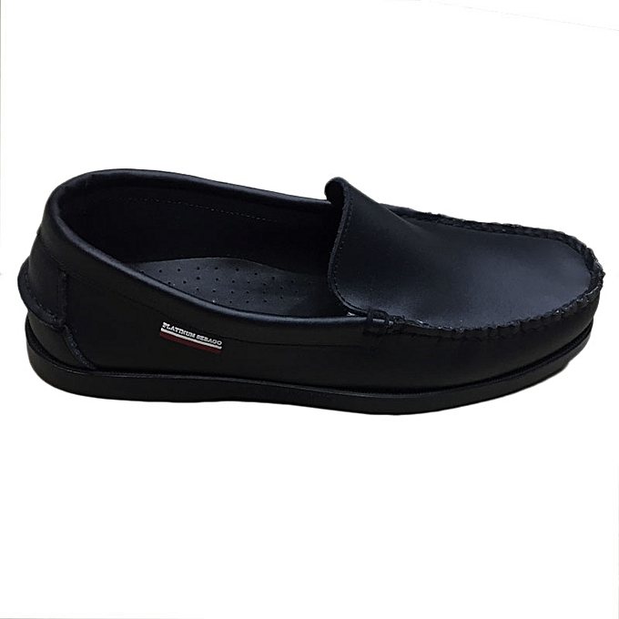 08fa5770c1a Buy White Label Slip On Loafer Shoes - Black   Best Price Online ...