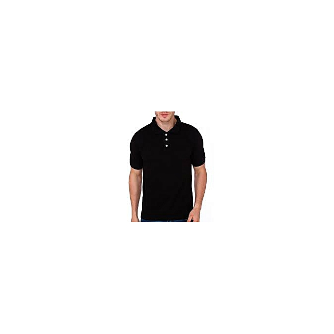 b0fbceff378 Buy Generic Style Cotton Men s Polo T-Shirt - black   Best Price Online -  Jumia Tanzania