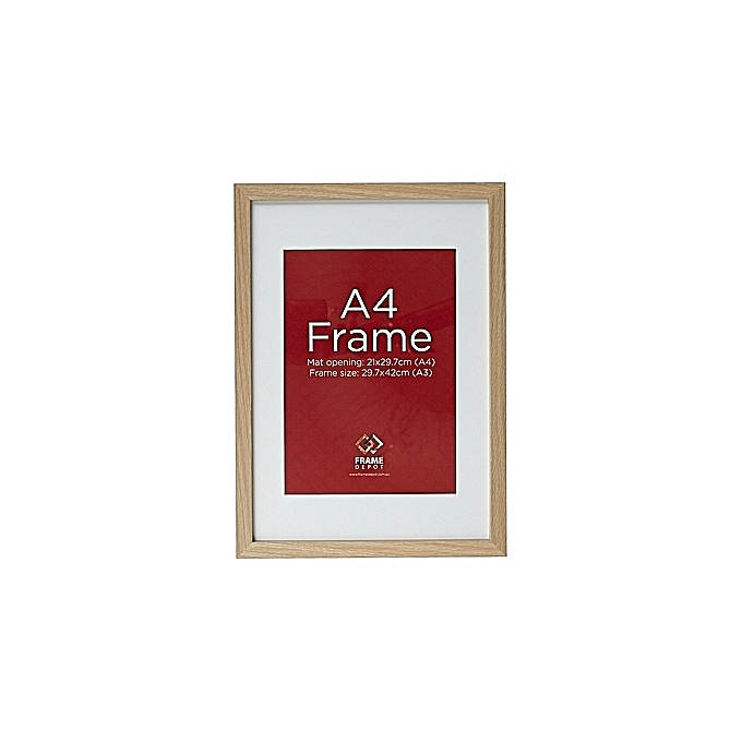 Buy White Label Classic Wood A4 Photo Frame - Brown @ Best Price ...