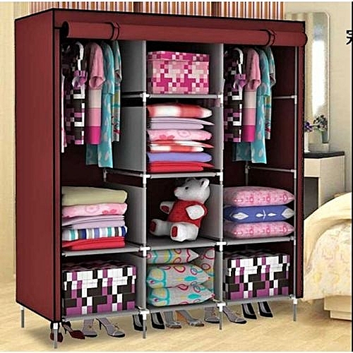 Canvas Storage Boxes For Wardrobes: Buy Generic Classic Canvas Fordable Storage Wardrobe