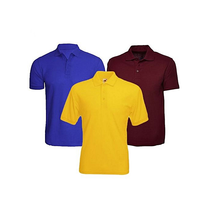00e4e53d Buy SPORT 3 Pack Of Men's Polo T-Shirts - Multi-Color @ Best Price ...