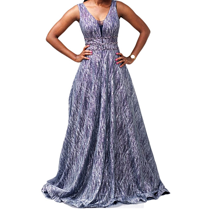 Buy White Label Evening Gown with Lace Detail - Grey @ Best Price ...
