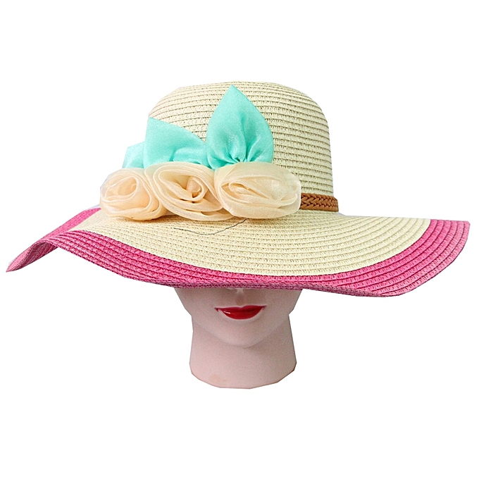 Buy Little More Straw Beach Hat with Floral Details   Best Price ... e5e5108e0e4