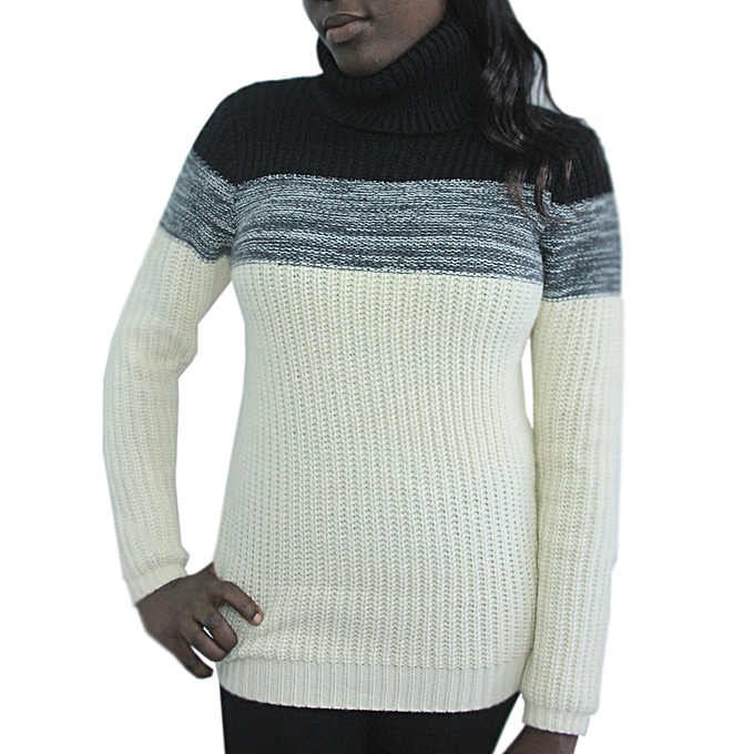 Buy Generic Modern Knitting High Neck Unisex Multi Colour Sweater