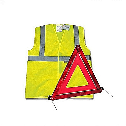 Signaling Yellow And Rescue Triangle Kit Vest 5LRAj4