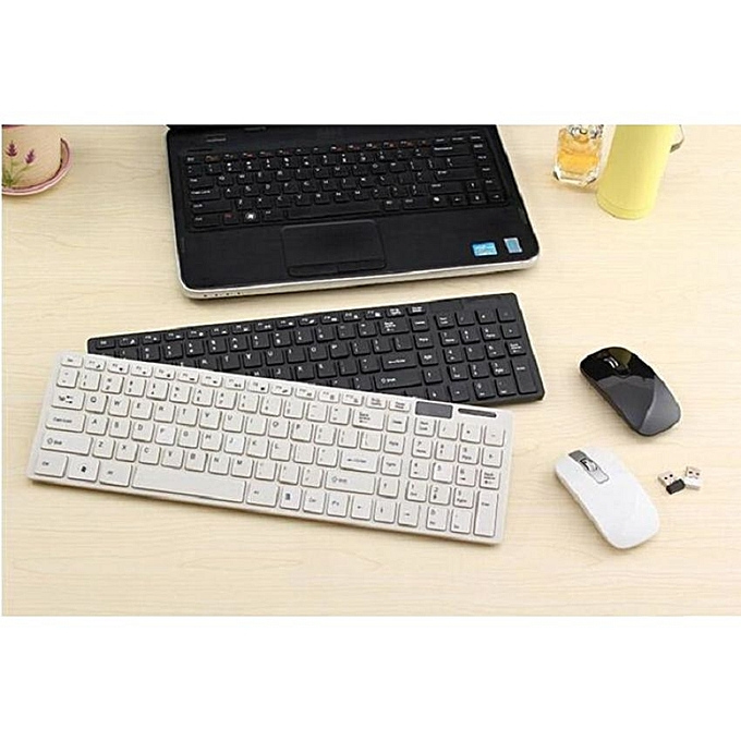 buy generic 2 4g wireless keyboard mouse white best price online jumia tanzania. Black Bedroom Furniture Sets. Home Design Ideas
