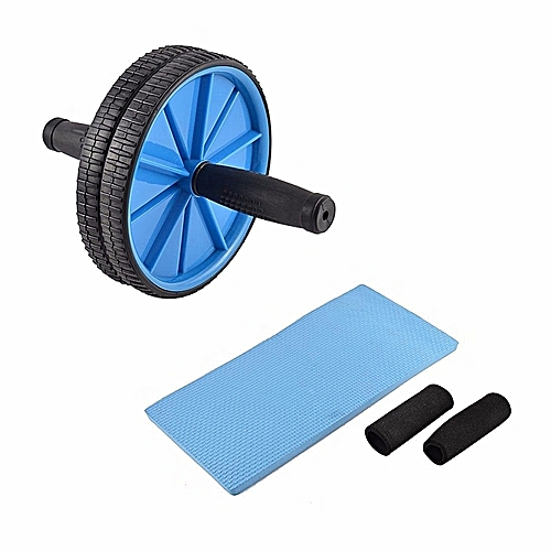 buy white label stomach fitness duo wheel roller black. Black Bedroom Furniture Sets. Home Design Ideas