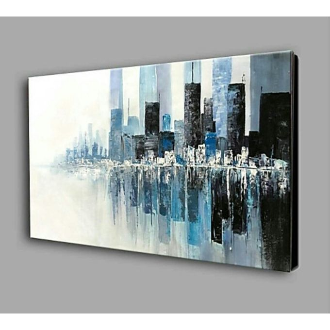 Colorful Abstract Heart Oil Paintings on Canvas Wall Art Ready to Hang for  Living Room Bedroom Home Office