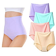 20746f71ff Women Casual Seamless Briefs High Waist Knickers Panties Plus Size 4 Pack