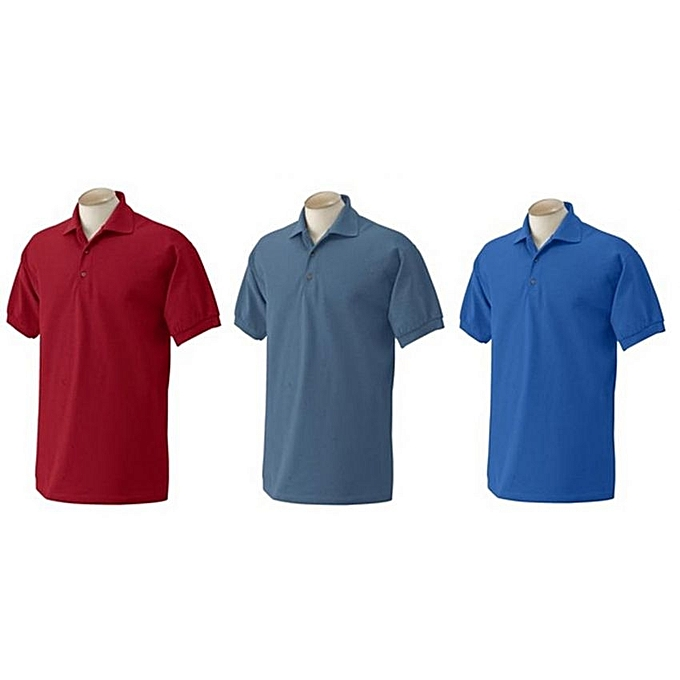 5b095ae1 Buy Generic Pack Of 3 Men's Polo T-Shirts - Maroon, Grey, Blue ...