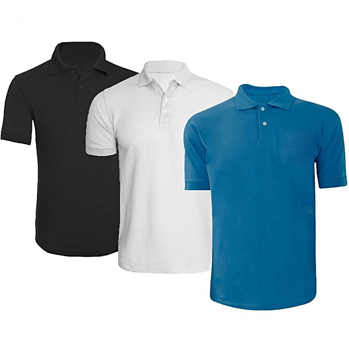 50ae098f Buy Generic Pack Of 3 Men's Polo Shirts - Muilti-color @ Best Price ...