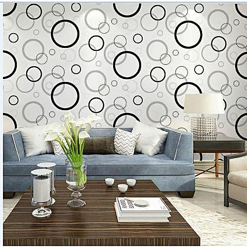 Buy Generic Vinyl Living Room Wallpaper Wall Covering Textured Roll, 60cm x 10 meters/ 55 sq meter. Come with Wallpaper Glue @ Best Price Online - Jumia ...