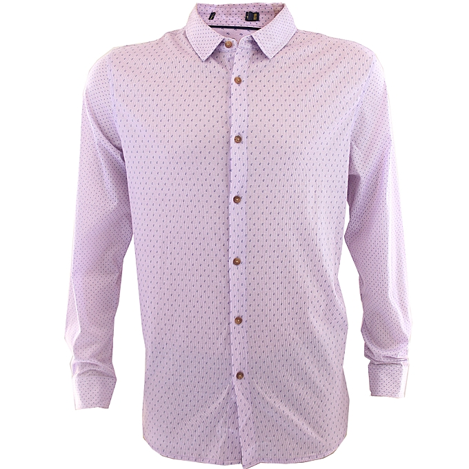 Buy Generic Smart Casual Collar Slim Fit Extra Long Sleeve Button